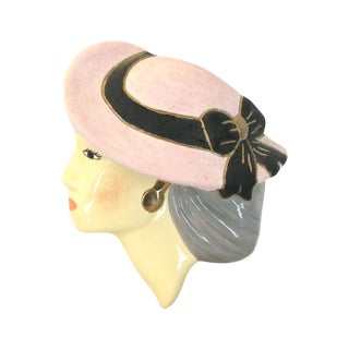 Hand Painted Ceramic Art - The Lady Sophisticate