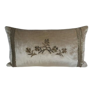 French Floral Stumpwork Pillow