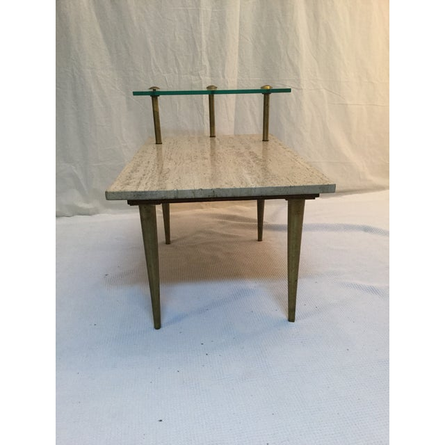 1950's Two Tear Travertine Side Tables - Pair - Image 10 of 11