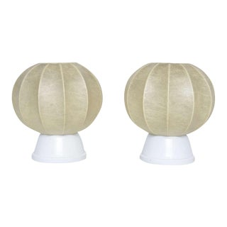 Pair of 60's German Table Lamps in the Manner of George Nelson