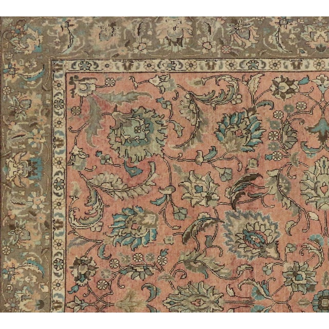 Vintage Persian Traditional Style Tabriz Rug - 10' x 11' - Image 6 of 6