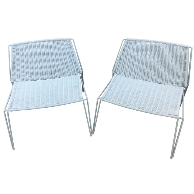 Room & Board Penelope Outdoor Loungers - A Pair - Image 1 of 8