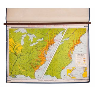 Vintage Colonial Commerce & Industries Map