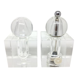 Vintage Dorothy Thorpe Crystal Salt and Pepper Shaker Set - A Pair
