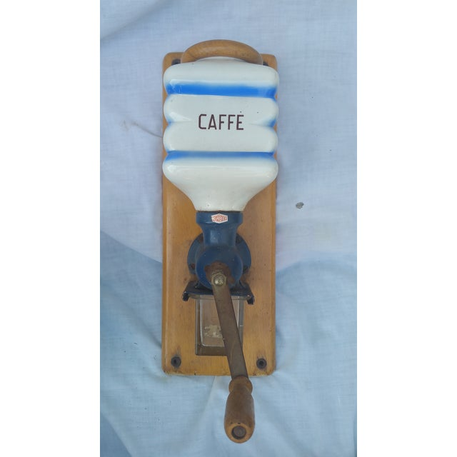 Image of Antique Wall Mounted Coffee Grinder