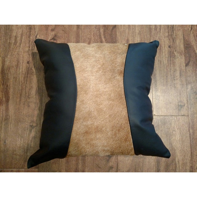 Logan Collection Leather & Cowhide Pillow - Image 3 of 5
