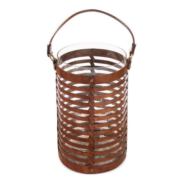 Sarreid Ltd. Leather Hurricane Baskets - A Pair - Image 3 of 4
