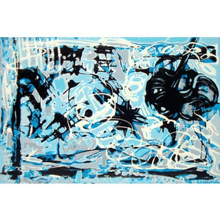 "Suga Lane - ""Free"" Original Modern Acrylic Painting"