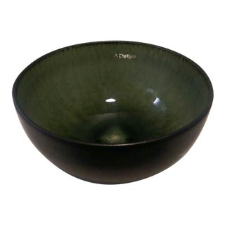 Jars France Samoa Vert Green Glazed Pottery Bowl