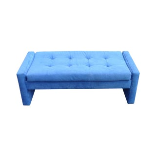 Preview Furniture Tufted Blue Bench