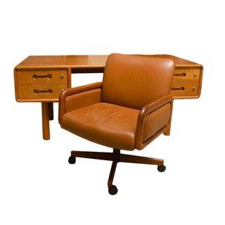 Fabulous Danish Teak Desk with Matching Desk Chair