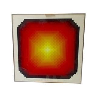 1975 Jurgen Peters Op Art Geometric Serigraph