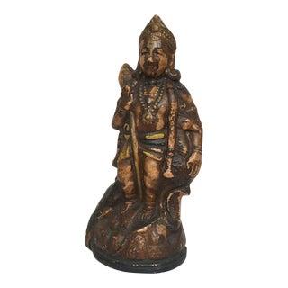 "Antique Clay Murugan ""Hindu God of War Murugan"" Sculpture"