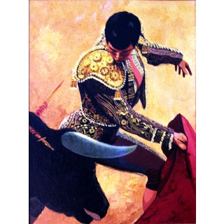 "Conrad Moulton ""The Bullfighter"" Painting Giclee Print"