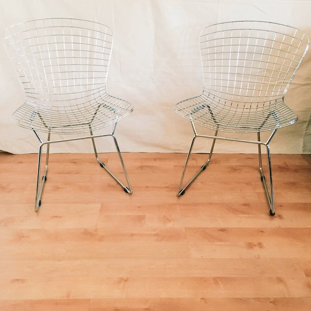 Bertoia Style Chairs - A Pair - Image 2 of 3