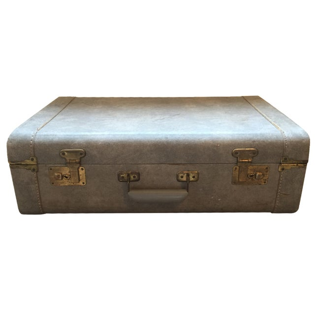 1940s Light Blue Suitcase - Image 1 of 8