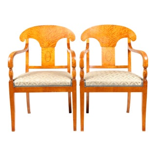 1820s Swedish Sheraton Armchairs - A Pair