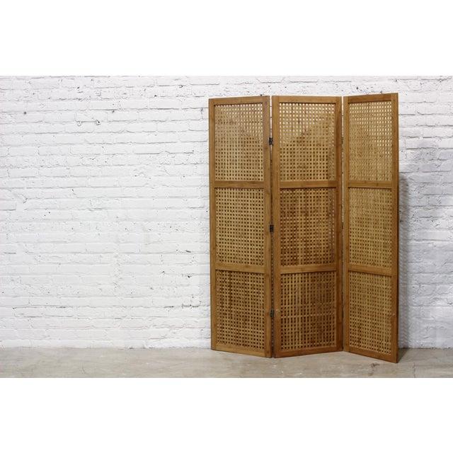 Image of Three-Panel Bamboo Folding Screen