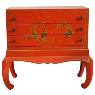 Red Chinoiserie Chest