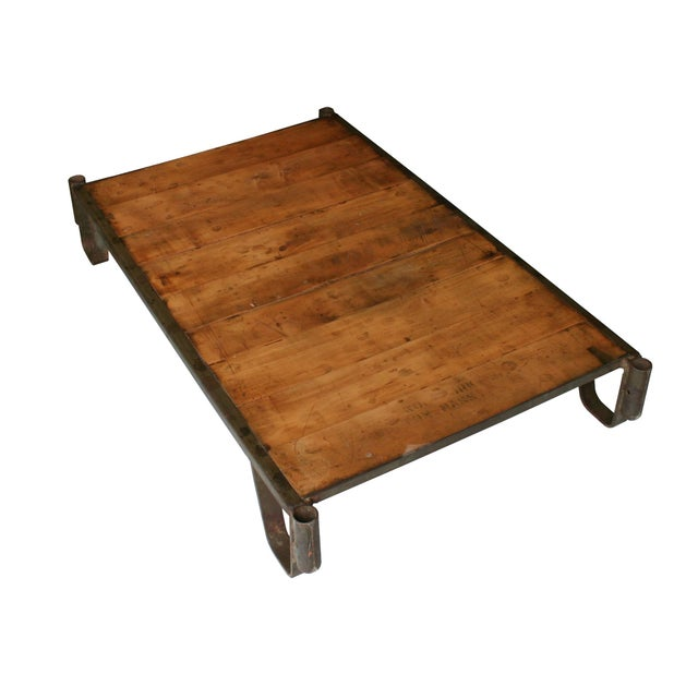 Industrial Pallet Table Chairish