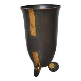 Karl Springer Bronze Urn