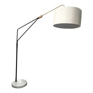 Mid-Century Style Arc Floor Lamp