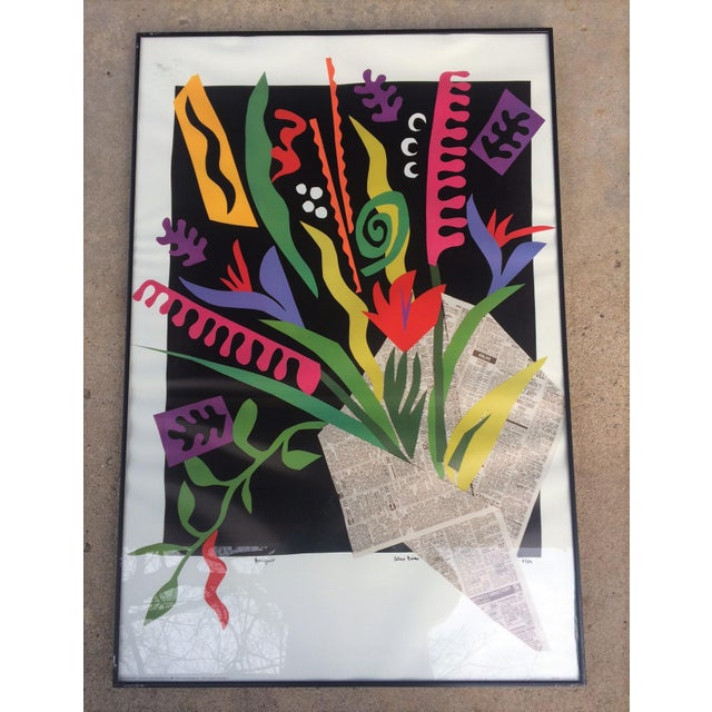 "Alex Boies Signed ""Bouquet"" Offset Lithograph - Image 6 of 6"