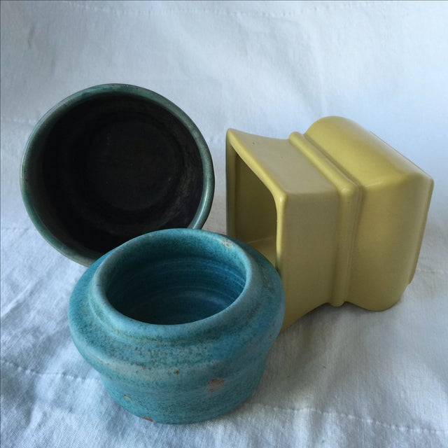 Pottery Planters - Set of 3 - Image 10 of 11