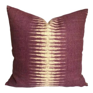 Purple Ikat Pillow Cover
