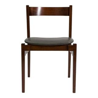 Set of 4 Walnut Dining Chairs by Gianfranco Frattini-1950′s
