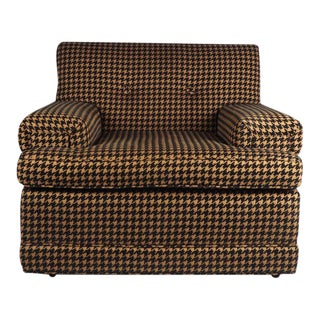 Vintage 1950's Houndstooth Armchair