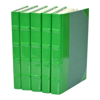 Patent Leather Green Books - Set of 5