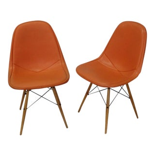 Pair of Early Charles and Ray Eames for Herman Miller Dowel Leg Wire Chairs