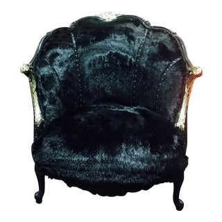 Black Shine Upholstered Chair