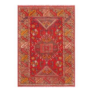 "Pasargad Vintage Oushak Wool Area Rug - 4' 4"" X 6' 1"""