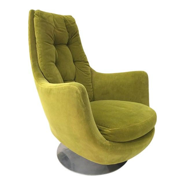 Milo Baughman Thayer Coggin Plush Mod Swivel Lounge Chair - Image 1 of 7