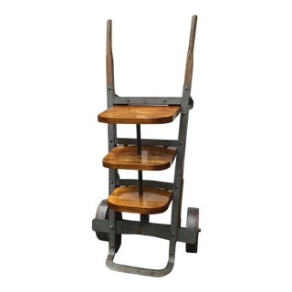 Repurposed Industrial Hand Truck Accent Piece for Piece for Contemporary Home