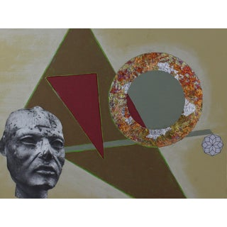 "Original Collage Painting ""Ring"" by Carl M. George"