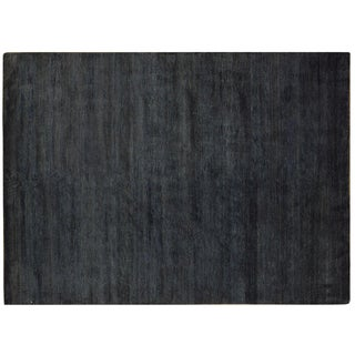 "Dark Gray Wool & Silk Rug - 5'8"" x 7'11"""