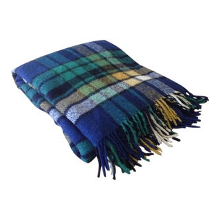 Plaid Wool Tailgate/Picnic Blanket