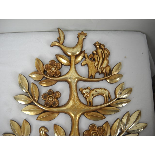"Syroco Vintage ""Tree of Life"" Plaque - Image 7 of 8"
