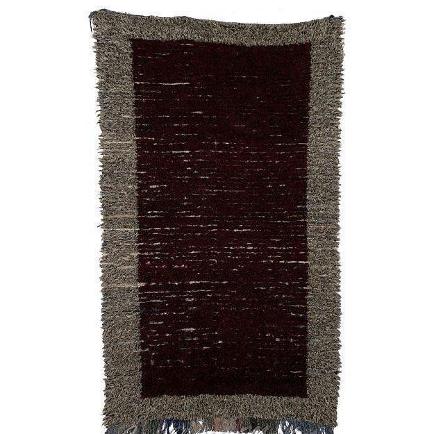 "Moroccan Boucherouite Carpet - 7'6""x4'7"" - Image 2 of 2"