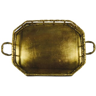 Vintage Brass Handled Tray