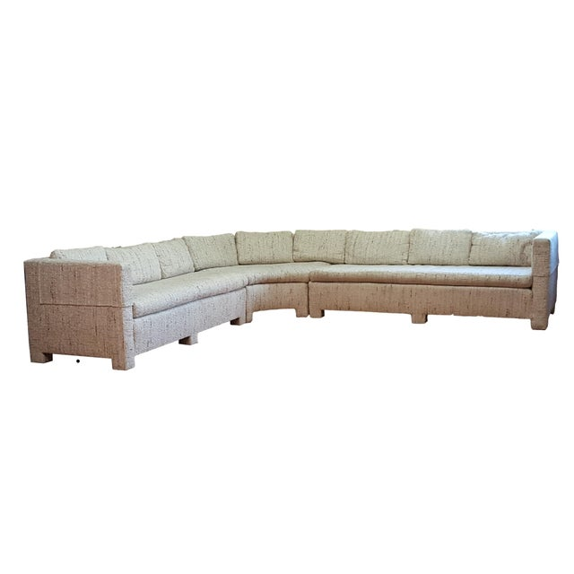 1970s Large Milo Baughman Style Sectional - Image 1 of 7