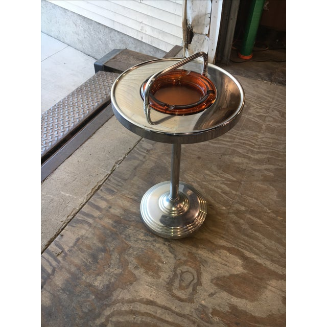 Image of Machine Age Industrial Chrome Smoking Stand