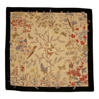 100% Hand-Rolled Silk Scarf for Pillow or Framing