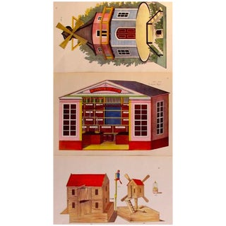 1870s Town/Birdhouse Toy & Dollhouse Design Planches- Set of 3