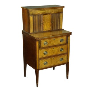 Satinwood Hepplewhite-Style Tambour Secretary