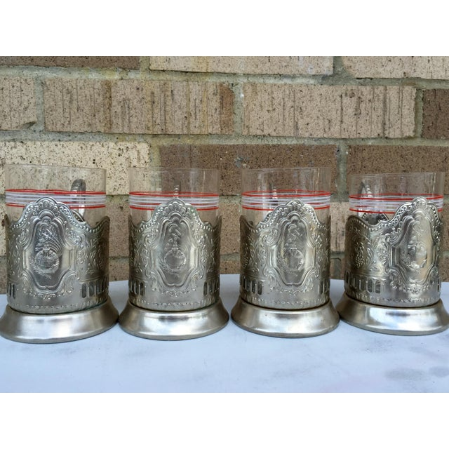 Russian Tea Glasses - Set of 4 - Image 3 of 5