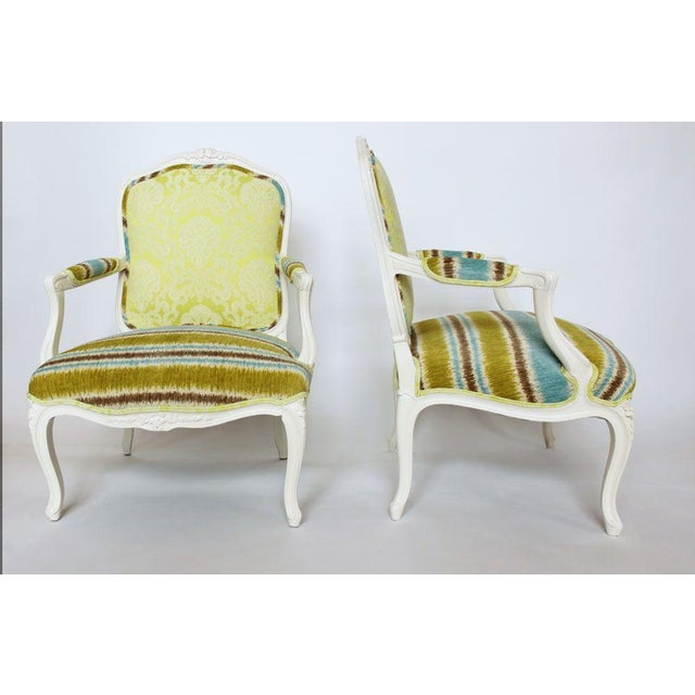 19th French Bergere Chairs - Pair - Image 3 of 6